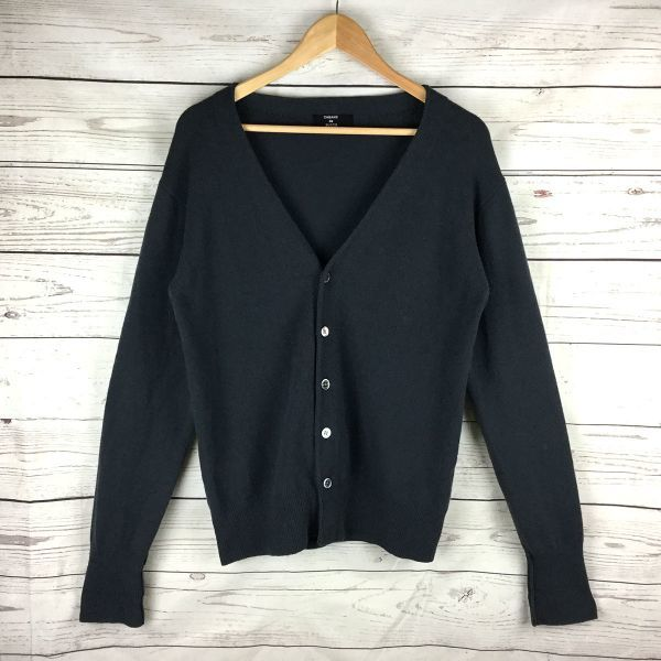 Classy★CABANE de ZUCCa★the band size up★long sleeves knit/cardigan [M/gray】V-neckline, 5 buttons/mens◆NH4