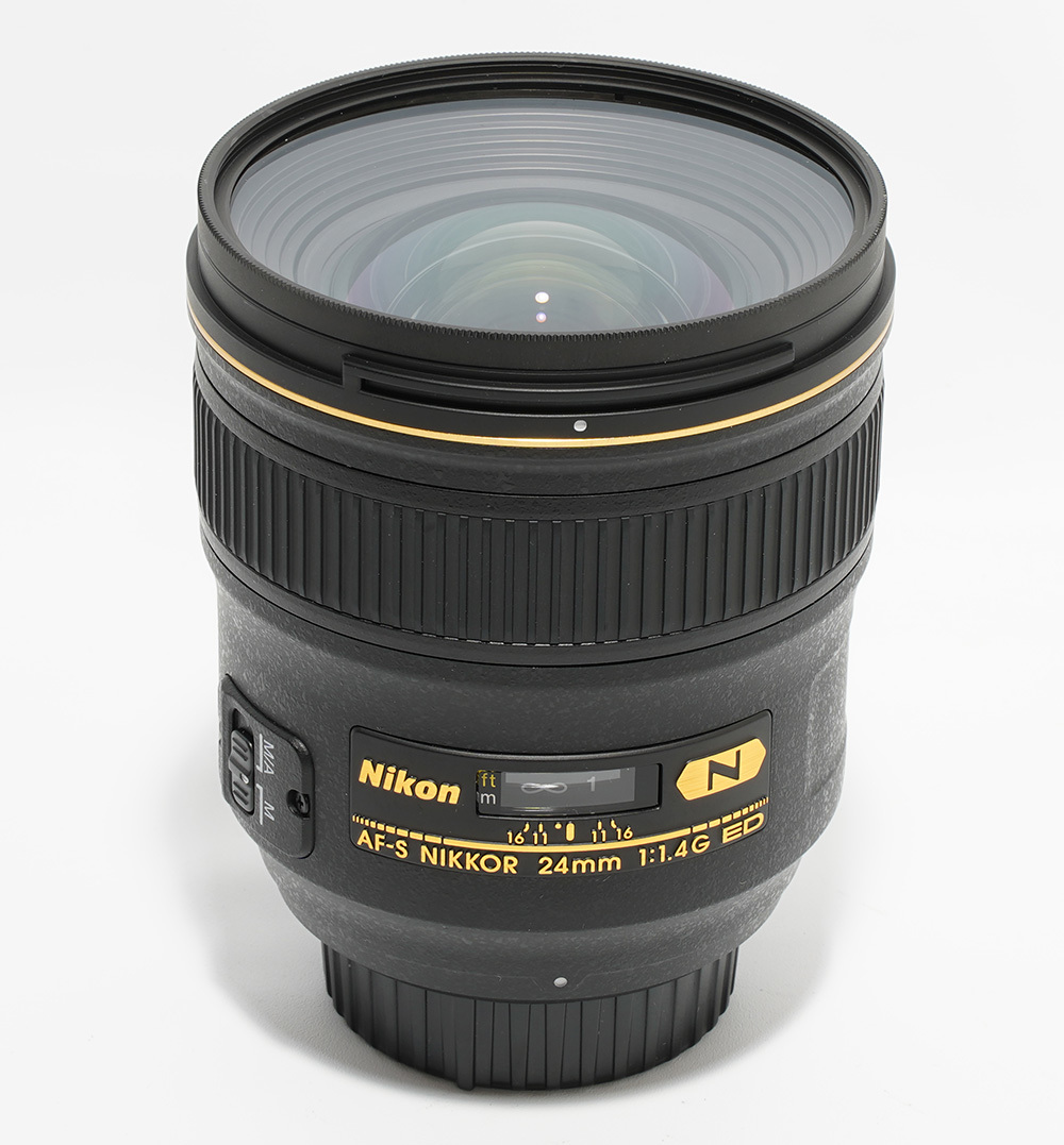 極上品 即決 動作保証 ニコン AF-S NIKKOR 24mm F1.4G ED 付属品、純正保護フィルター付