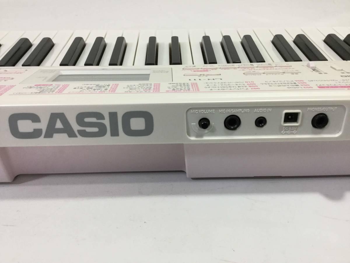 ○カシオ CASIO LK-111 光ナビゲーション キーボード 61鍵 120曲内臓 液晶表示画面_画像3