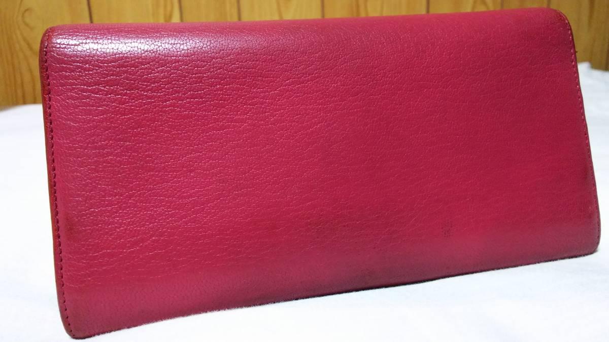 2bf4fbb4df64 正規良 カルティエCartier LOVE ラブコレクション 3連ビスプレート長財布赤桃 レッド