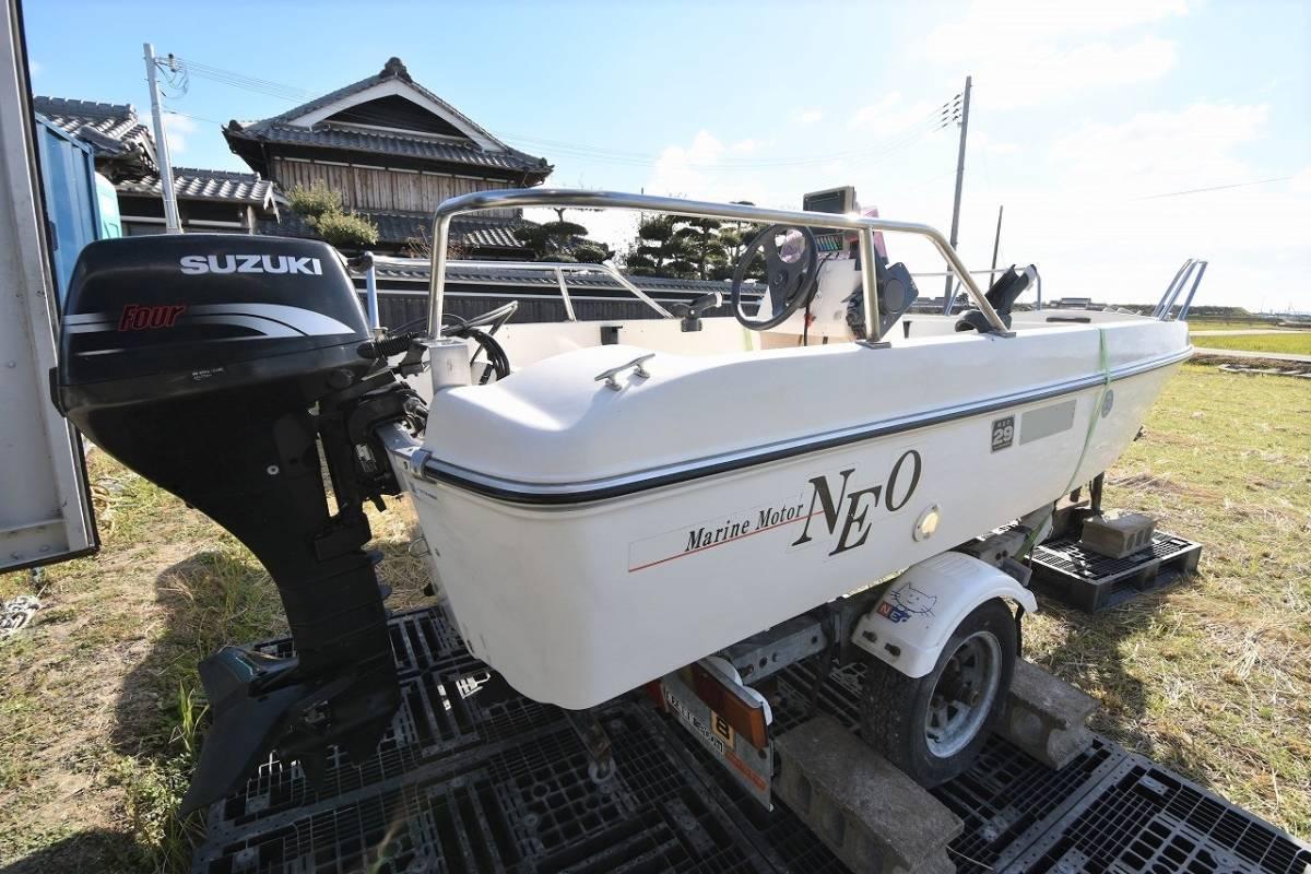 ☆★船屋.com 大人気のトレーラブルボート☆★マリンモーター NEO374 4st 15ps 船外機!!_画像4