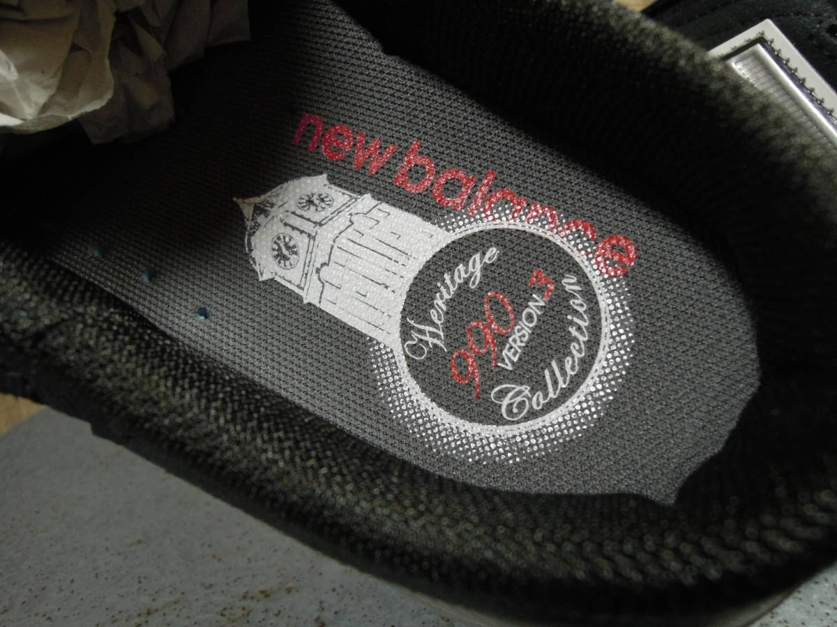 希少!箱付デッド NB M990 SB3 ブラック ニューバランス 日本未発売 サンダル スリッポン USA製 アメリカ製 ビンテージ_画像8