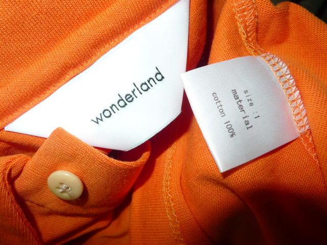 d598641b ... * * wonderland one da- Land 18AW new work Long sleeve polo times .
