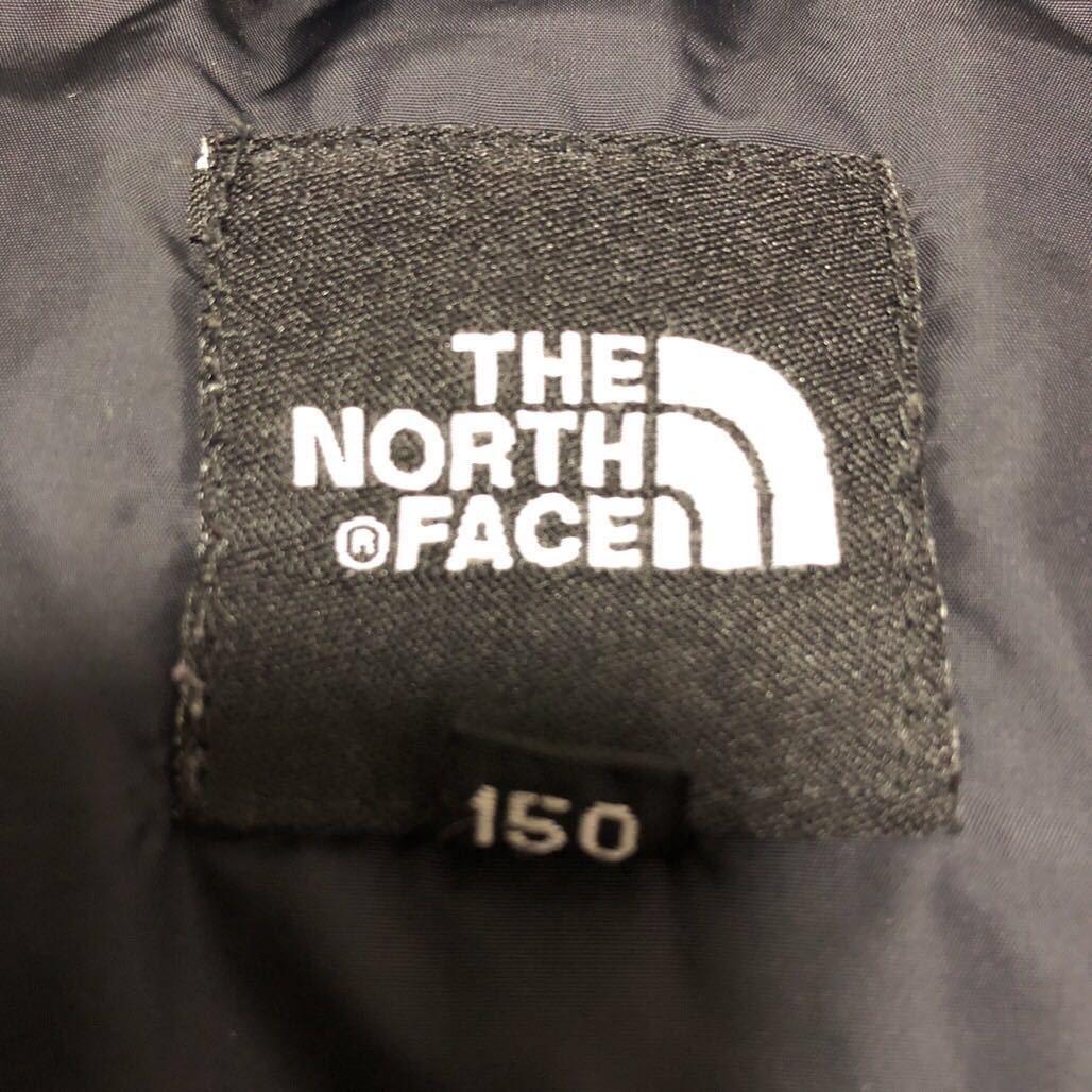 ノースフェイス キッズ ダウンジャケット 150サイズ 正規品 赤 レッド 黒 ブラック 本物_画像4