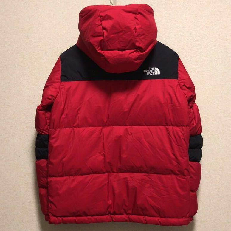 ノースフェイス キッズ ダウンジャケット 150サイズ 正規品 赤 レッド 黒 ブラック 本物_画像3