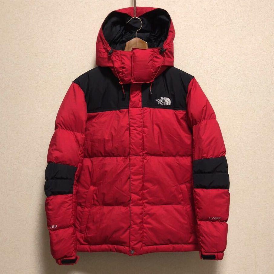ノースフェイス キッズ ダウンジャケット 150サイズ 正規品 赤 レッド 黒 ブラック 本物_画像2