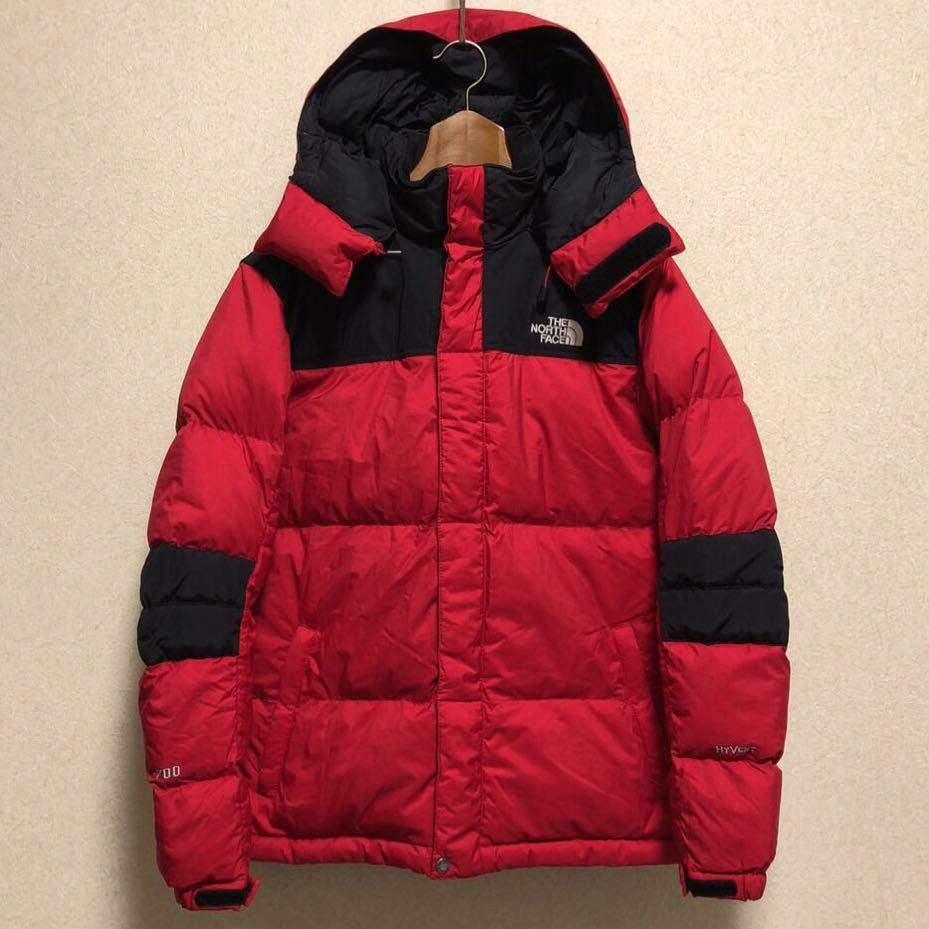 ノースフェイス キッズ ダウンジャケット 150サイズ 正規品 赤 レッド 黒 ブラック 本物