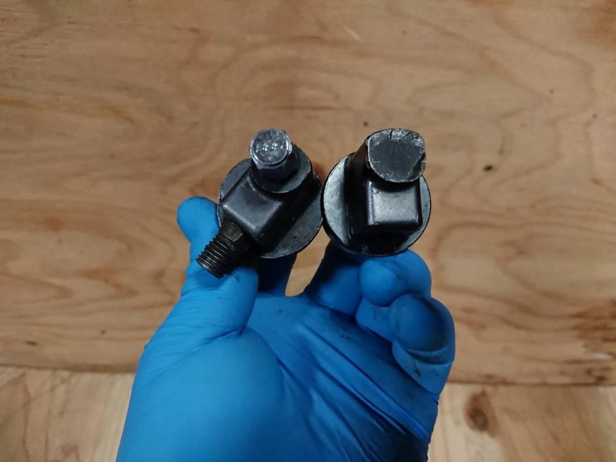 F480 当時物 CBX400F 純正 フロントフォークボルト 使える中古/NC07 ジョイントホース CBX550F Ⅱ型 トップボルト テクニカルアジャスター_画像4