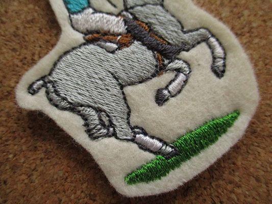 80s 馬 うま ポロ 刺繍 フェルト ワッペン パッチ /昭和レトロ 乗馬 競馬 G1 動物 牧場 ポロ POLO 酪農_画像3