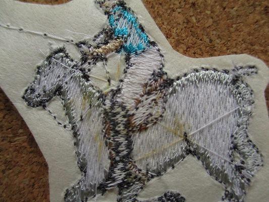 80s 馬 うま ポロ 刺繍 フェルト ワッペン パッチ /昭和レトロ 乗馬 競馬 G1 動物 牧場 ポロ POLO 酪農_画像5