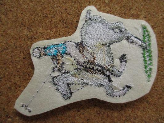 80s 馬 うま ポロ 刺繍 フェルト ワッペン パッチ /昭和レトロ 乗馬 競馬 G1 動物 牧場 ポロ POLO 酪農_画像4