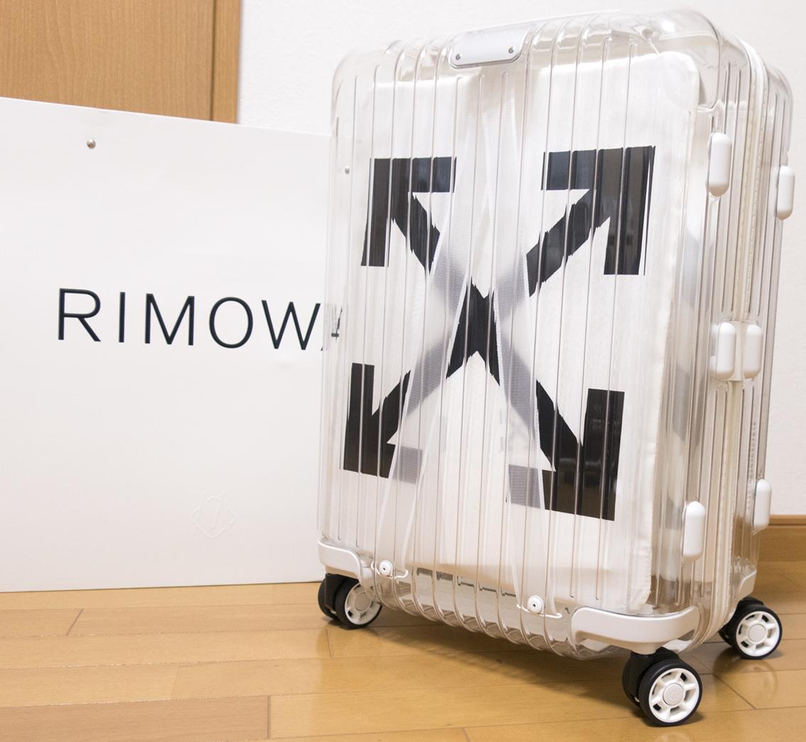 即完売 RIMOWA リモワ OFF-WHITE 18AW オフホワイト 36L シースルー スケルトン コラボ商品 スーツケース 超軽量 クリア×ホワイト 劇レア_画像2