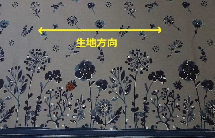 【20%OFF SALE】綿麻キャンバス生地|108×50cm|ルクレ|両耳ボーダー|グレー|シルバーラメ|北欧風|花柄|ルシアン|リネン混_画像5