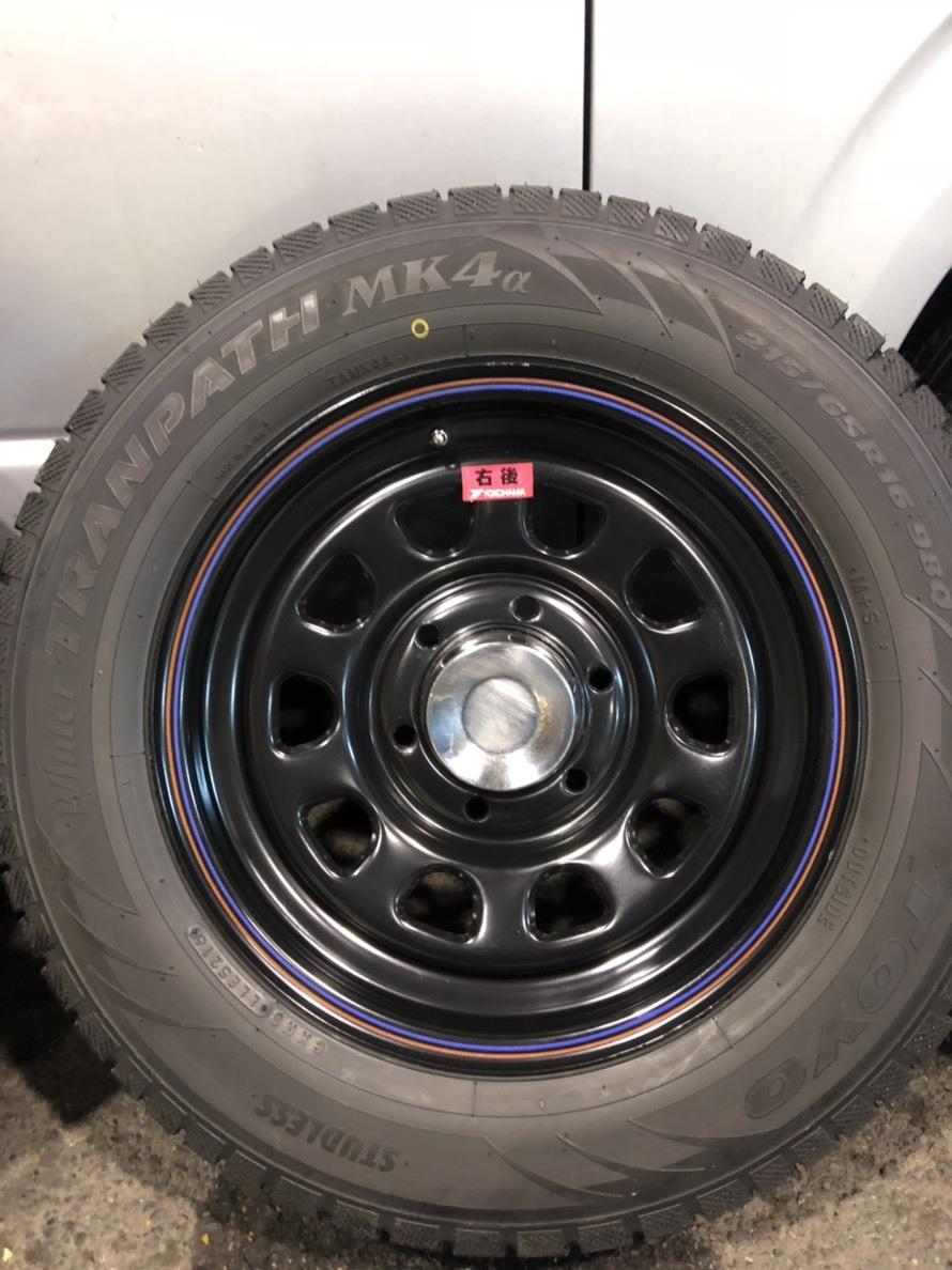Hiace 200系列4型無釘輪胎輪組Daytona 16英寸 編號:d323920443