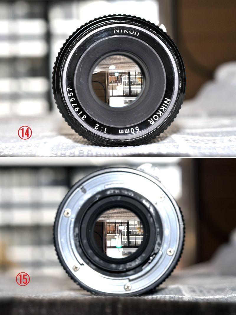 ★ 完動品 Nikon F2 アイレベル黒 レアな初期モデル, レンズ Nikkor 50mm F2.0_画像8