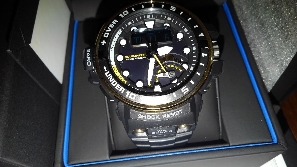 カシオ CASIO 腕時計 G-SHOCK ジーショック GULFMASTER 電波ソーラー GWN-Q1000A-1AJF メンズ _画像4