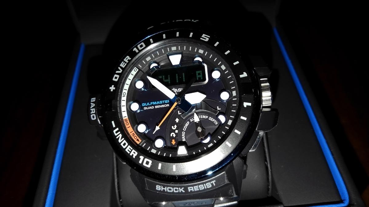 カシオ CASIO 腕時計 G-SHOCK ジーショック GULFMASTER 電波ソーラー GWN-Q1000A-1AJF メンズ