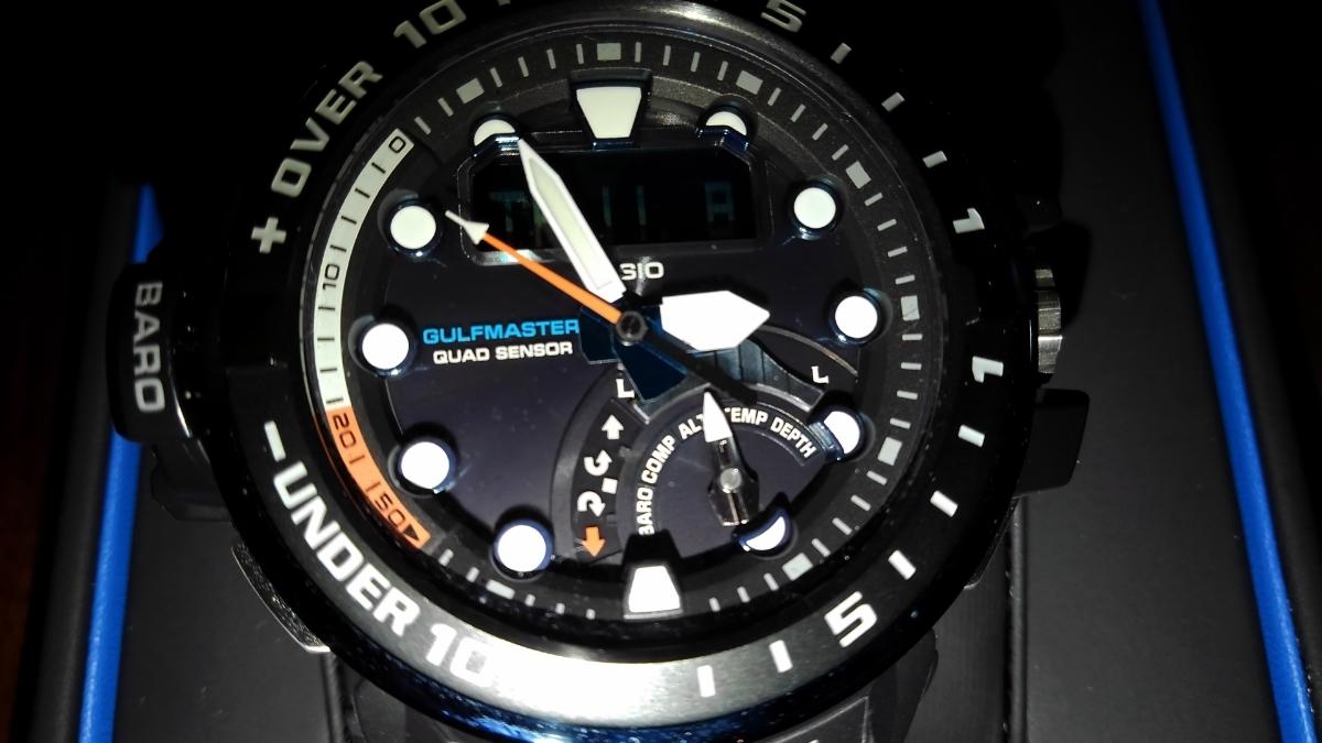 カシオ CASIO 腕時計 G-SHOCK ジーショック GULFMASTER 電波ソーラー GWN-Q1000A-1AJF メンズ _画像6
