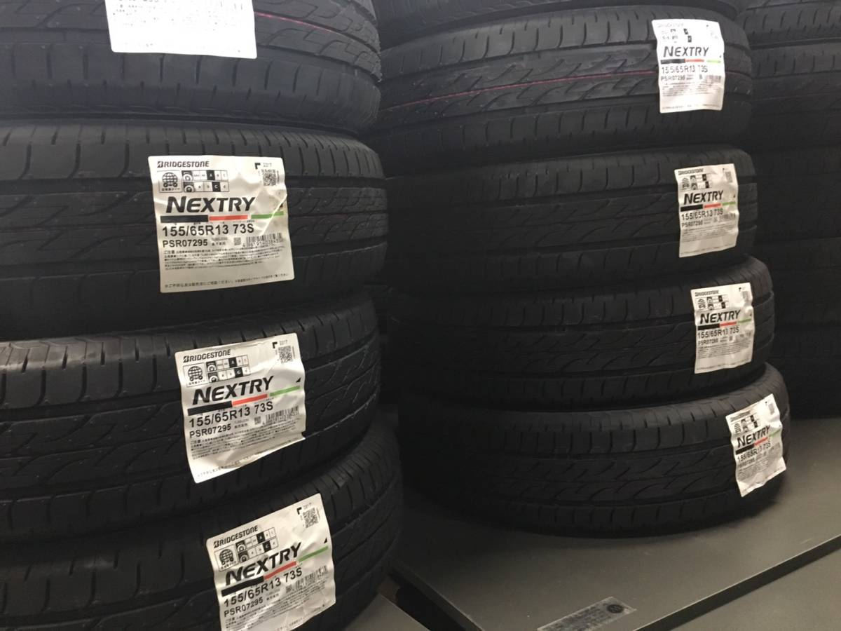 ⑦2018 year made Bridgestone NEXTRY next Lee 155/65R13 tube less valve(bulb) attaching postage included Y9790~ *14 o'clock till . payment . same day shipping *