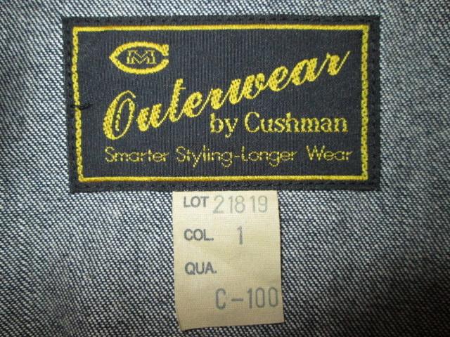 美品 クッシュマン 10oz ウォバッシュ デニム A-1 30's サイズS ジャケット ストライプ CUSHMAN_画像10