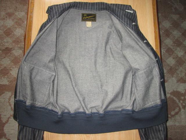 美品 クッシュマン 10oz ウォバッシュ デニム A-1 30's サイズS ジャケット ストライプ CUSHMAN_画像5