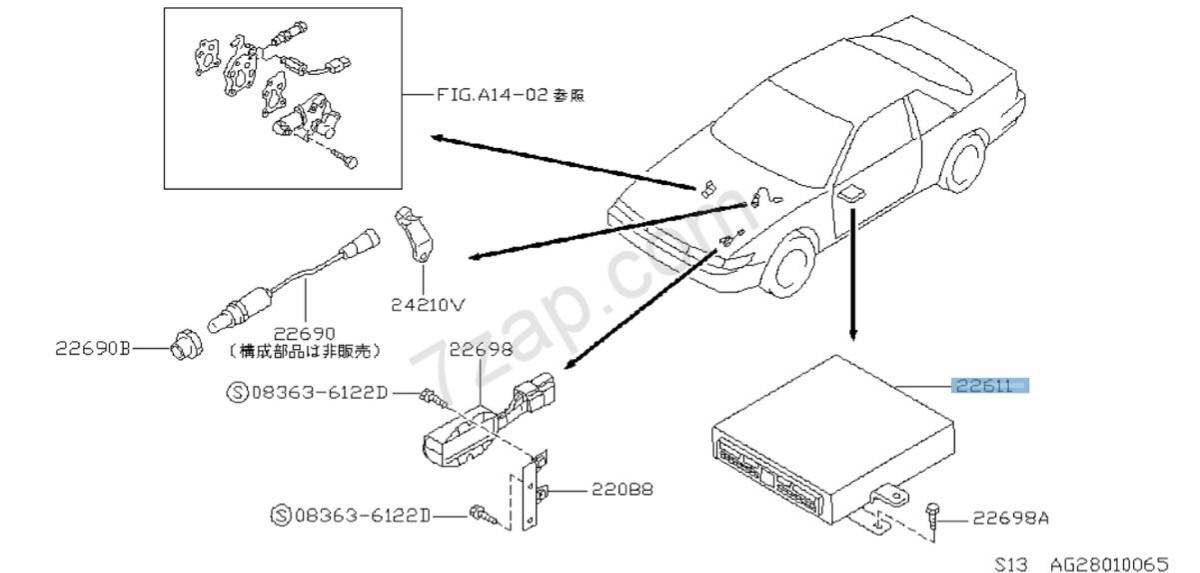 Records Out Of Production 23710 36f11 Engine Control Unit Nissan