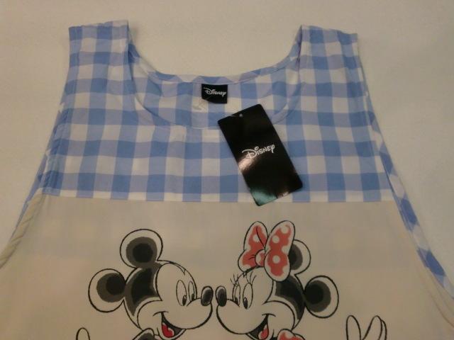エプロン キッチン エプロン ディズニー 可愛い Disney ミッキー&ミニー エプロン サービス品!!ブルー 38016_画像3