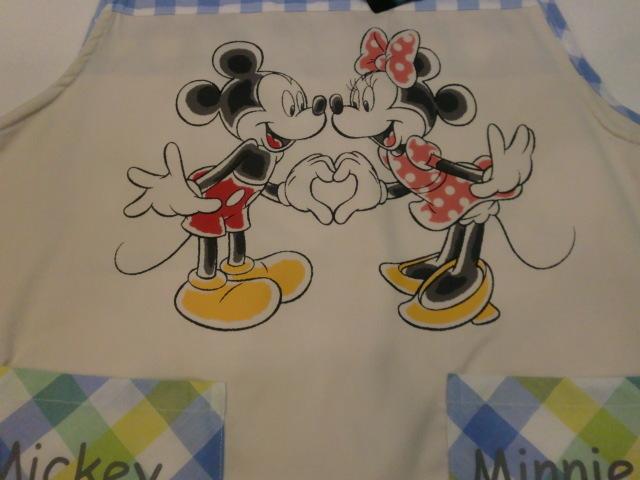 エプロン キッチン エプロン ディズニー 可愛い Disney ミッキー&ミニー エプロン サービス品!!ブルー 38016_画像4