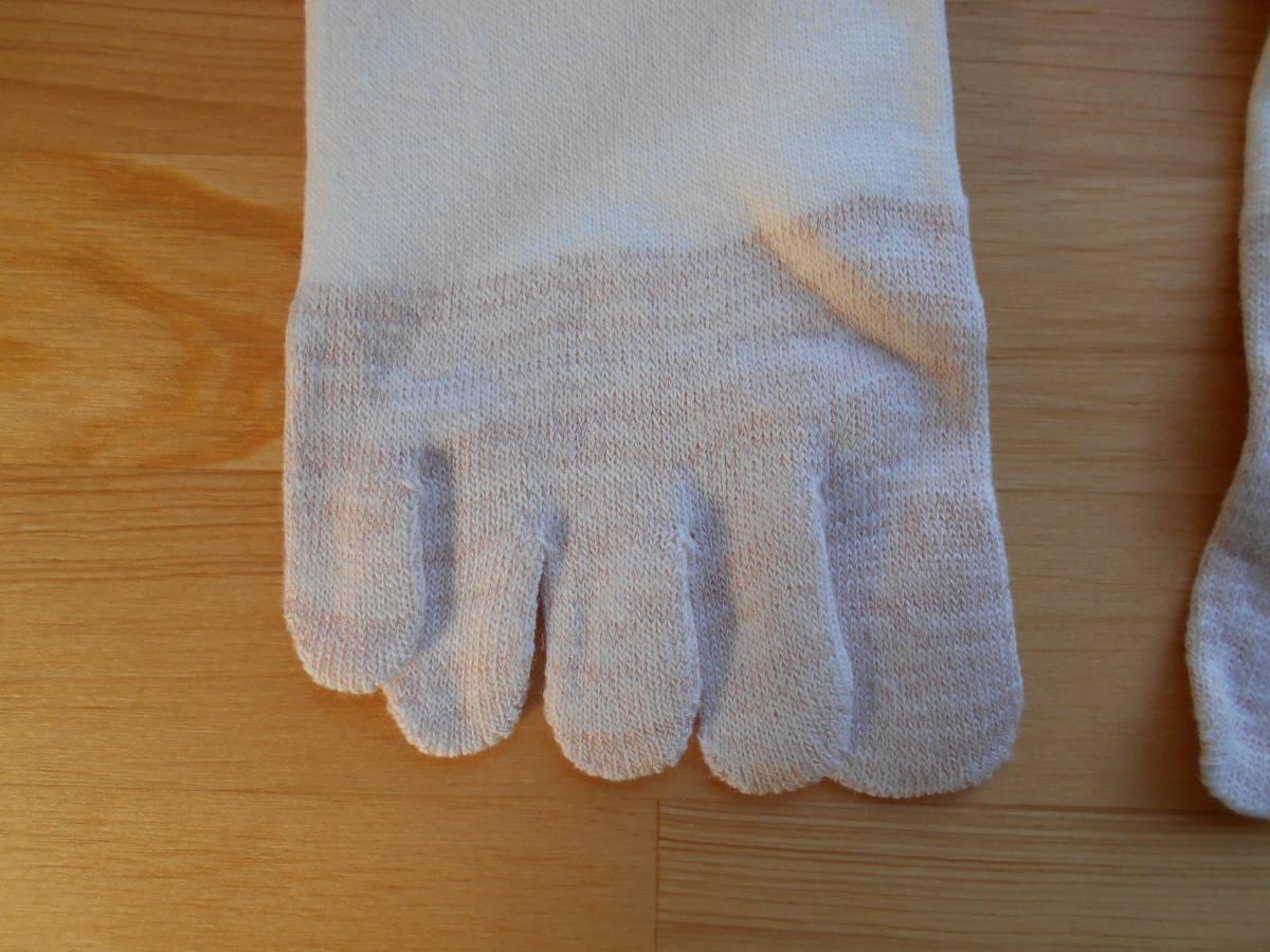 【値下げ】77%オフ レディース 銅線入り 5本指靴下 ホワイト 2枚セット 制菌 防臭 血行促進