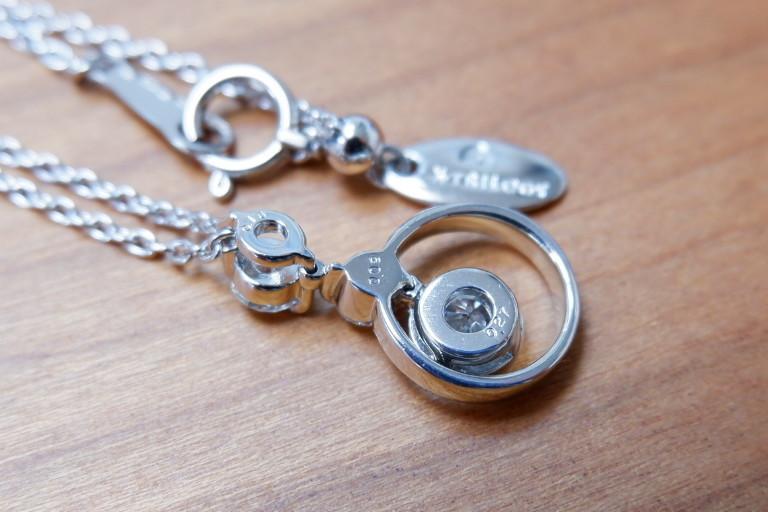 安心堂 フォーエバーマーク コラボ ダイヤモンド 計0.52ct ロンド ネックレス デビアス トリロジー_画像5