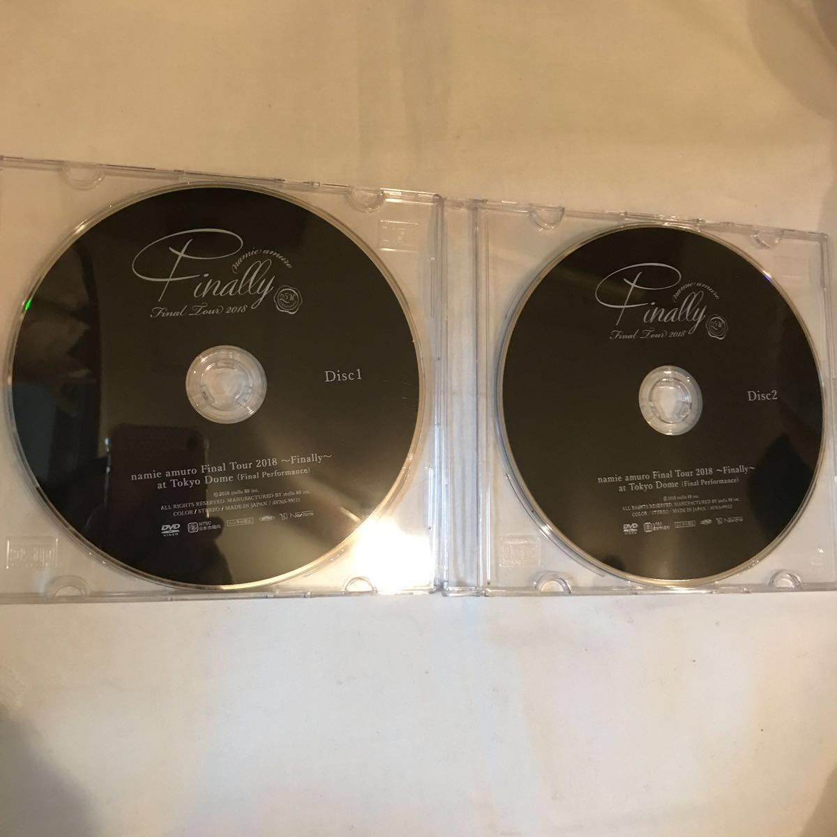 安室奈美恵 DVD finally ディスクのみ 東京ドーム最終公演 2枚セット 未再生 国内正規品 ◆