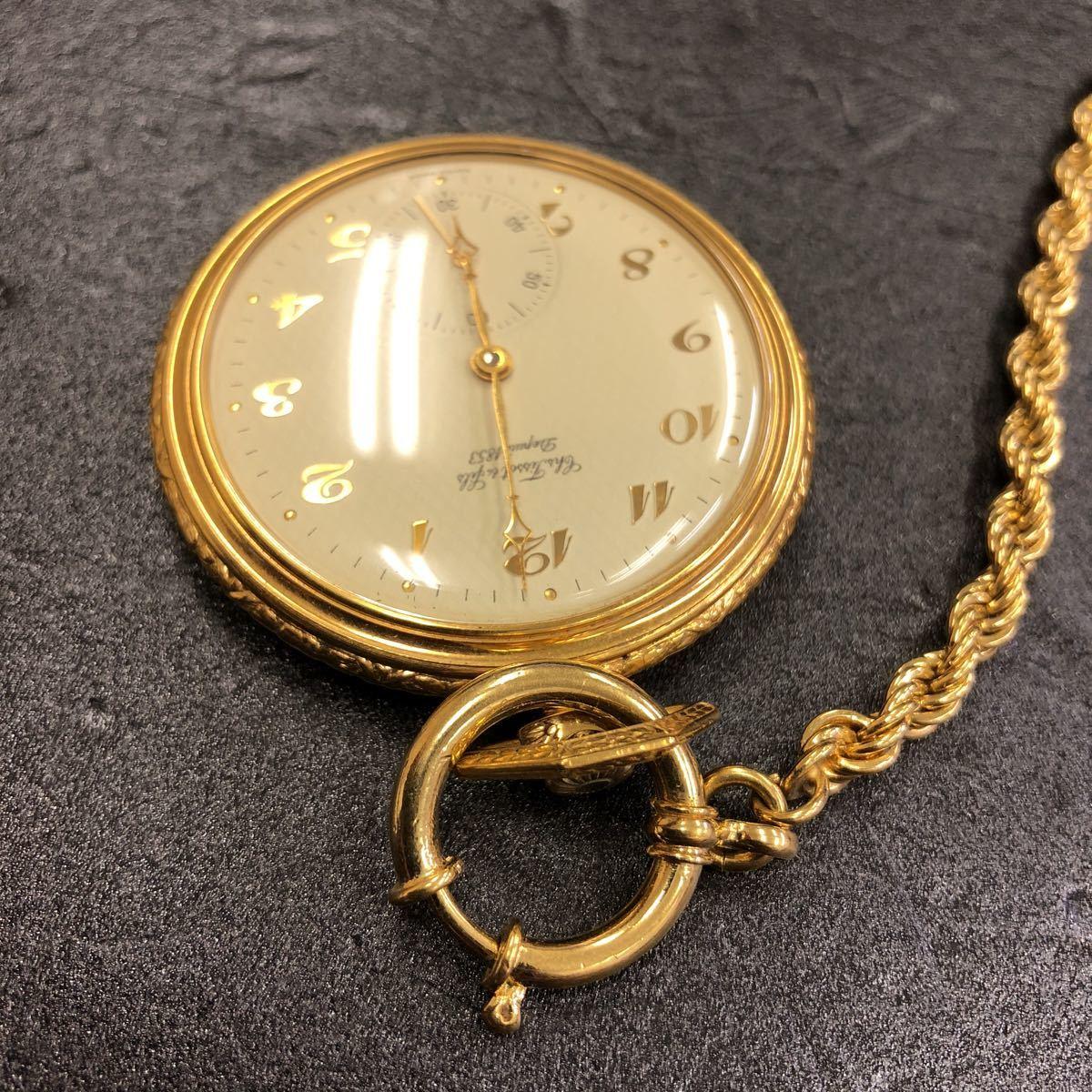 美品/稼働品TISSOT ティソ 懐中時計 手巻き chs tissot & fils depuis 1853 _画像5