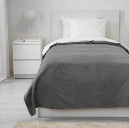 ☆ IKEA イケア ☆ TRATTVIVA ベッドカバー, グレー シングル <150x250 cm>2h_画像1