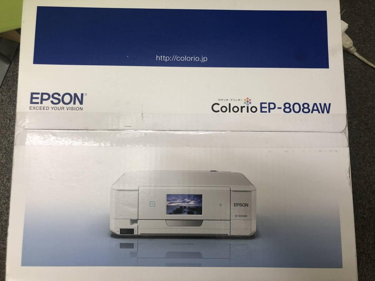 """未開封 未使用 EPSON / エプソン インクジェットプリンター """"カラリオ EP-808AW"""" & プリンター用USB 2.0m 7ケーブル _画像4"""
