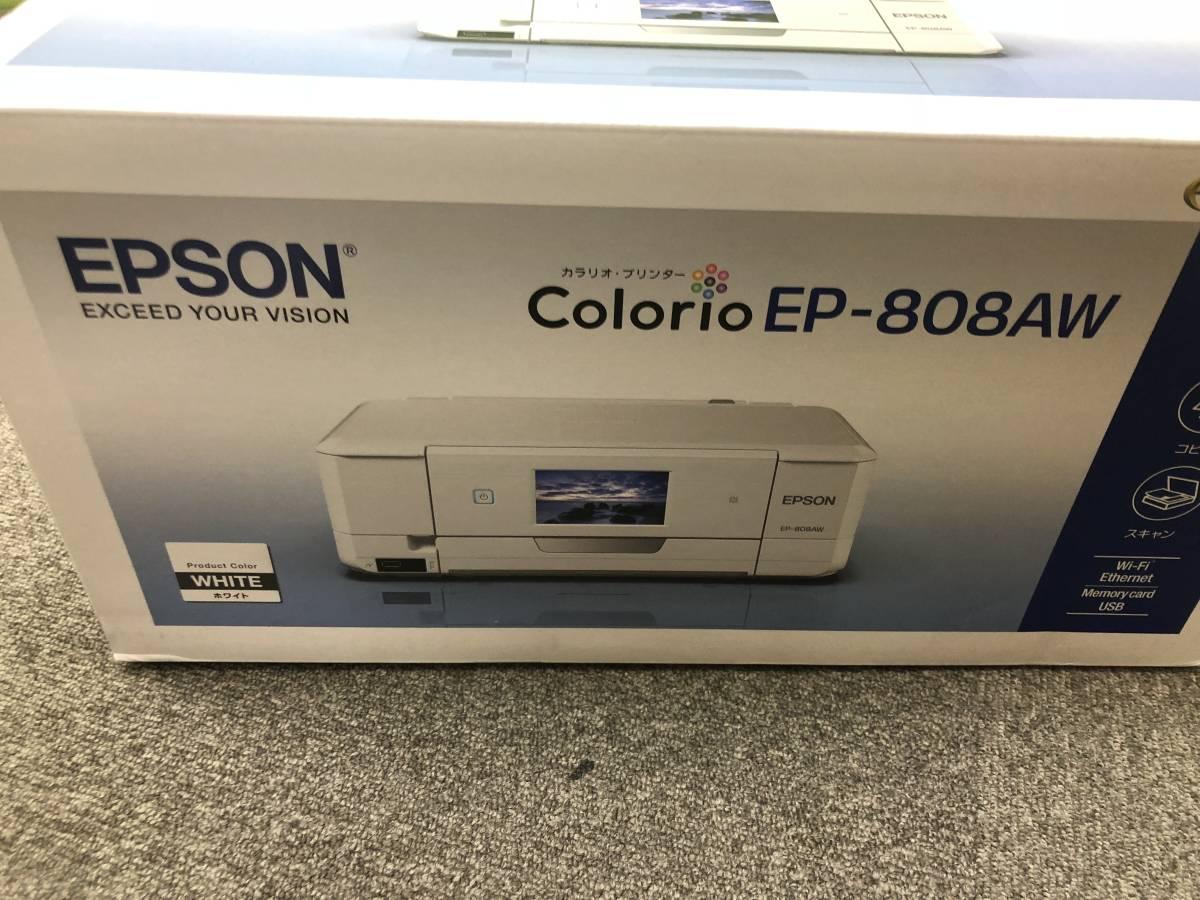 """未開封 未使用 EPSON / エプソン インクジェットプリンター """"カラリオ EP-808AW"""" & プリンター用USB 2.0m 7ケーブル _画像3"""
