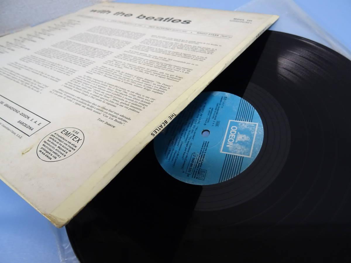 BEATLESビートルズ★WITH THE BEATLES スペイン盤LP!monoモノ!ディフジャケ 辺境盤 各国盤 レア盤 ODEON オデオン珍盤 Spain_画像3