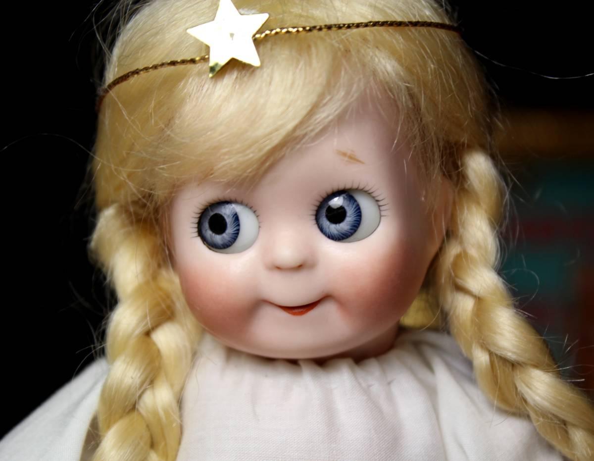 めちゃカワ(#^.^#)クリスマス天使 グーグリー 21㎝リプロ作家様1点もの/SD 装飾 創作人形 美術品 アートブライス キューピー好きも