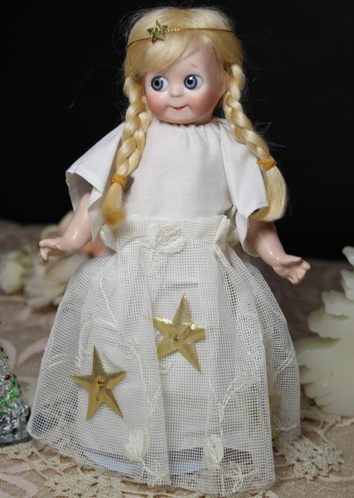めちゃカワ(#^.^#)クリスマス天使 グーグリー 21㎝リプロ作家様1点もの/SD 装飾 創作人形 美術品 アートブライス キューピー好きも_画像2