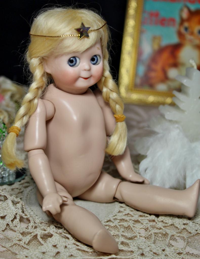 めちゃカワ(#^.^#)クリスマス天使 グーグリー 21㎝リプロ作家様1点もの/SD 装飾 創作人形 美術品 アートブライス キューピー好きも_画像4