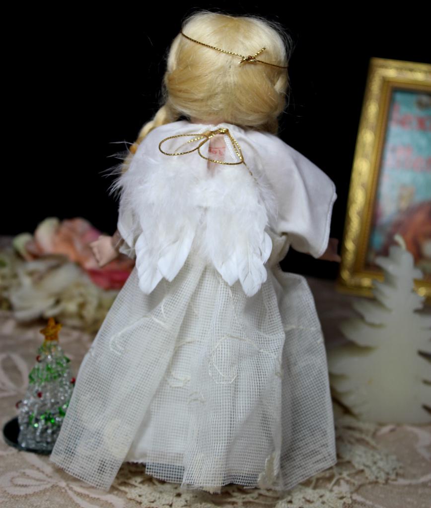 めちゃカワ(#^.^#)クリスマス天使 グーグリー 21㎝リプロ作家様1点もの/SD 装飾 創作人形 美術品 アートブライス キューピー好きも_画像3