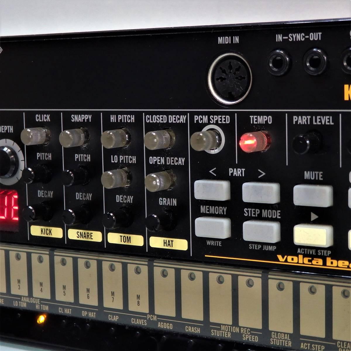 中古良品♪ 動作OK♪ KORG Volca Beats ② アナログリズムマシン コルグ ドラムマシン エレクトロ ヒップホップ シンセサイザー_画像4