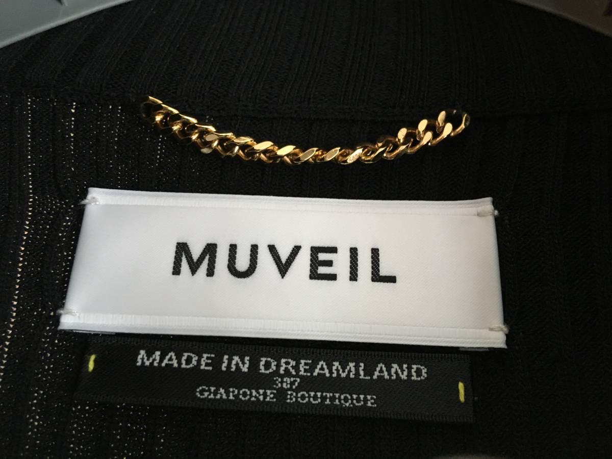 美品 ミュベール レース ニット レイヤード ワンピース 38 ブラック ドレス muveil 黒 蜂 刺繍 装飾_画像10