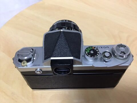 Nikon F アイレベル NIKKOR-O.C 35mm/2 動作品_画像2