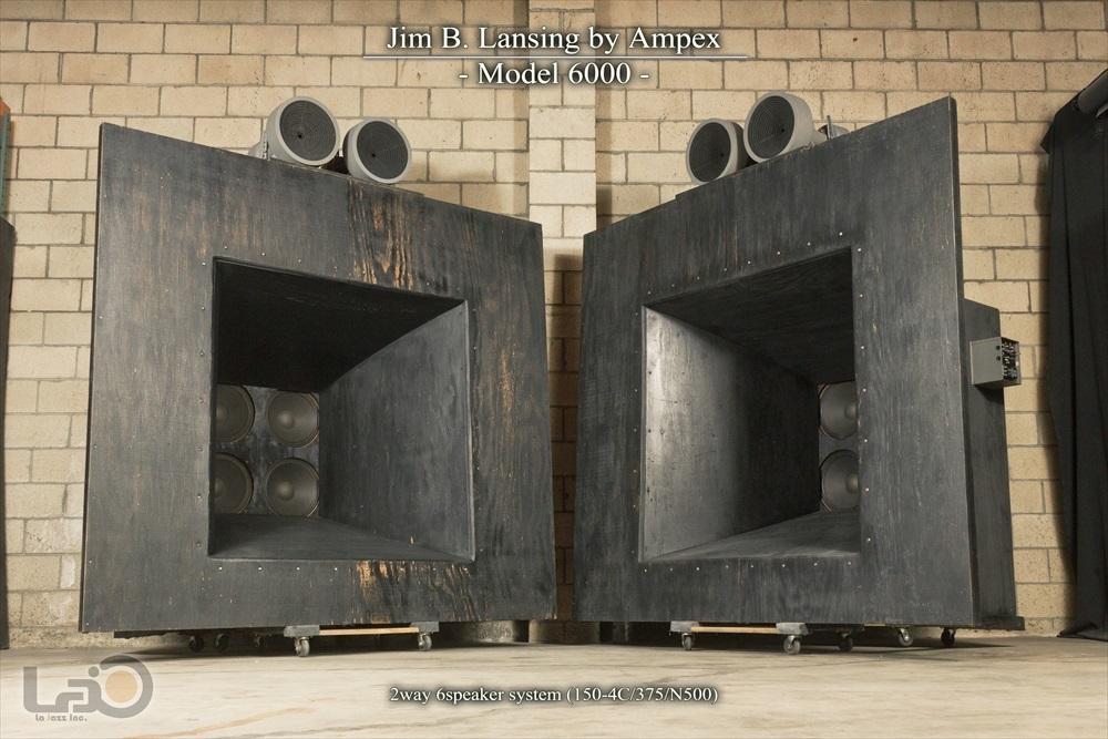 (値交可)Jim B Lansing by Ampex Model 6000 ジムラン初 2ウェイ6スピーカー特大劇場用システム (150-4Cウーファー8発/375ドライバー4発)_画像1