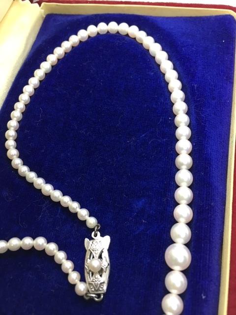 MIKIMOTO Mikimoto珍珠項鍊珍珠7mm~3.2mm珍珠 編號:s620656273