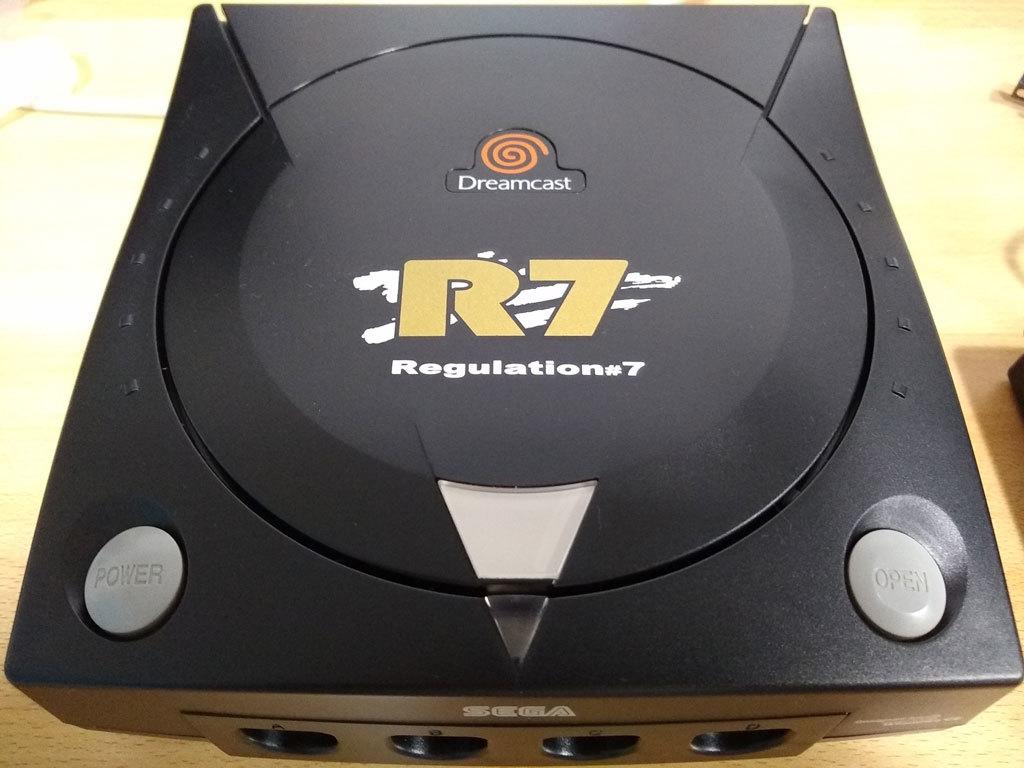 ドリームキャスト 本体 HKT-3000 R7 Regulation#7 + キーボード + VGAボックス ★黒い三点セット【中古】_画像3