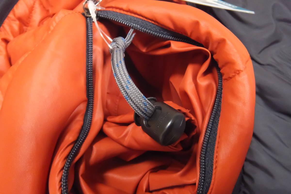 即決 送料無料 未使用(タグ・収納袋付き)mont・bell サーマランドパーカ XL 黒 リバーシブル ダウンジャケット ワッペン付きカスタム品