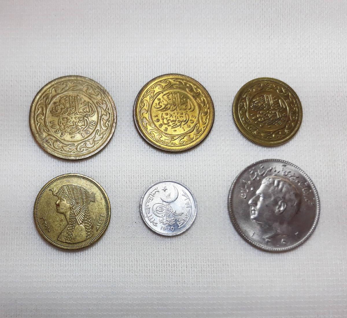 アラブ 中東 硬貨 6枚 ◆t-43_画像1
