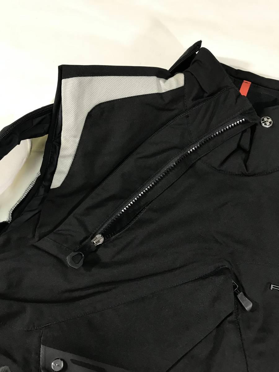 新品 14136 Lサイズ RLX ストレッチ ナイロン ジャケット 黒 白 polo ralph lauren ポロラルフローレン ベスト スキー スノボ_画像4