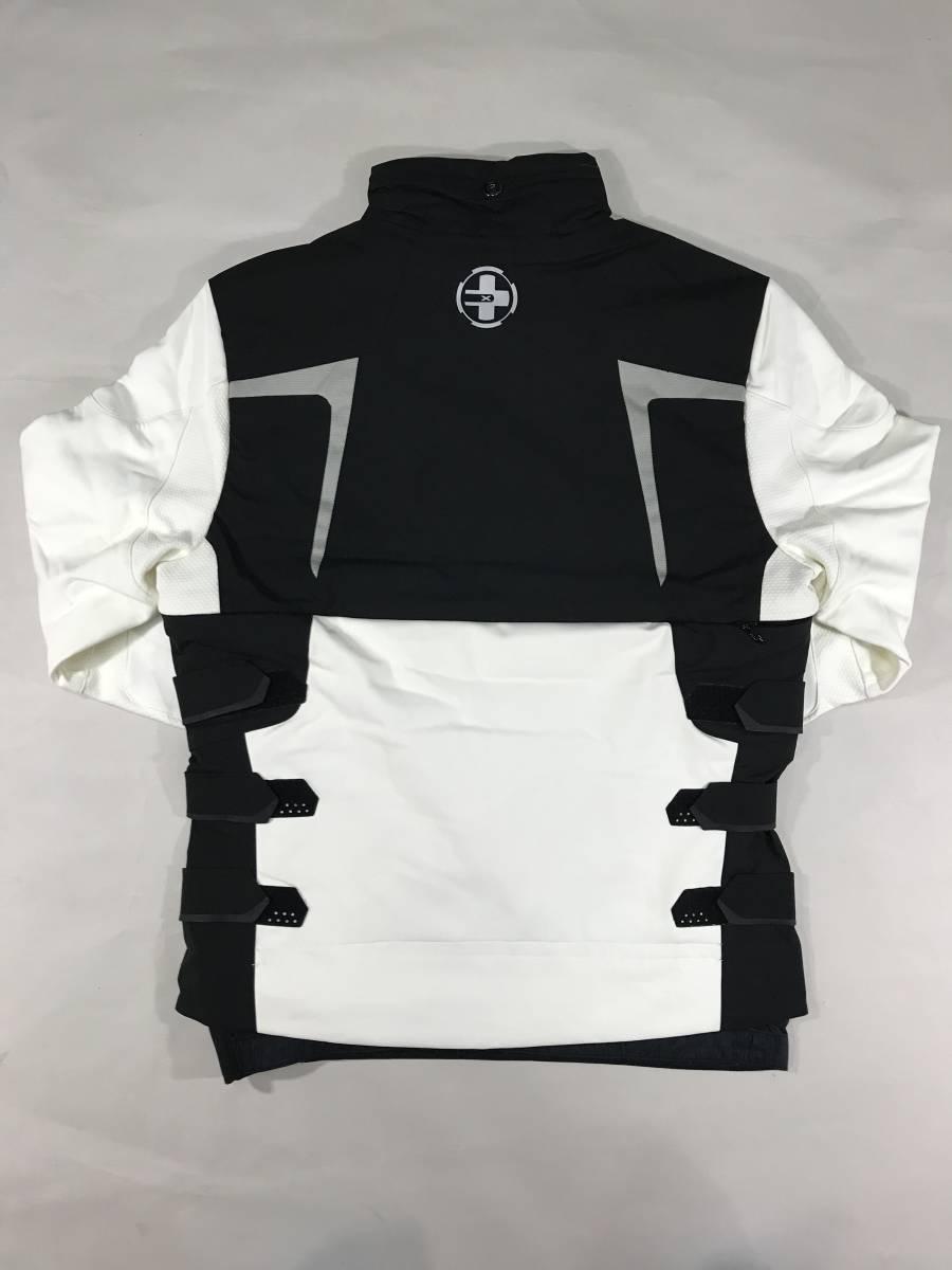 新品 14136 Lサイズ RLX ストレッチ ナイロン ジャケット 黒 白 polo ralph lauren ポロラルフローレン ベスト スキー スノボ_画像5